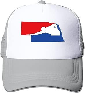 Snooker And Nebraska Map Billiards Mesh Unisex Adult-one Size Snapback Trucker Hats