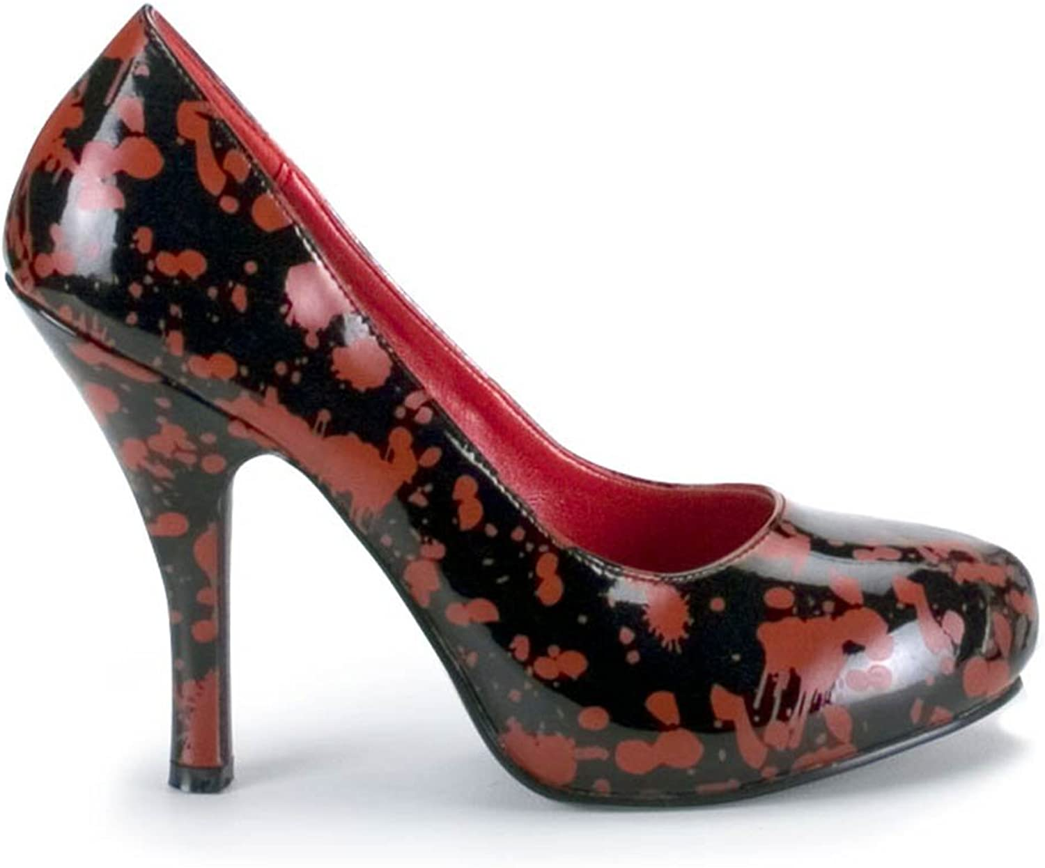 Pleaser Usa Inc Women's Blood Stain Black Pump shoes Black Red Size 10