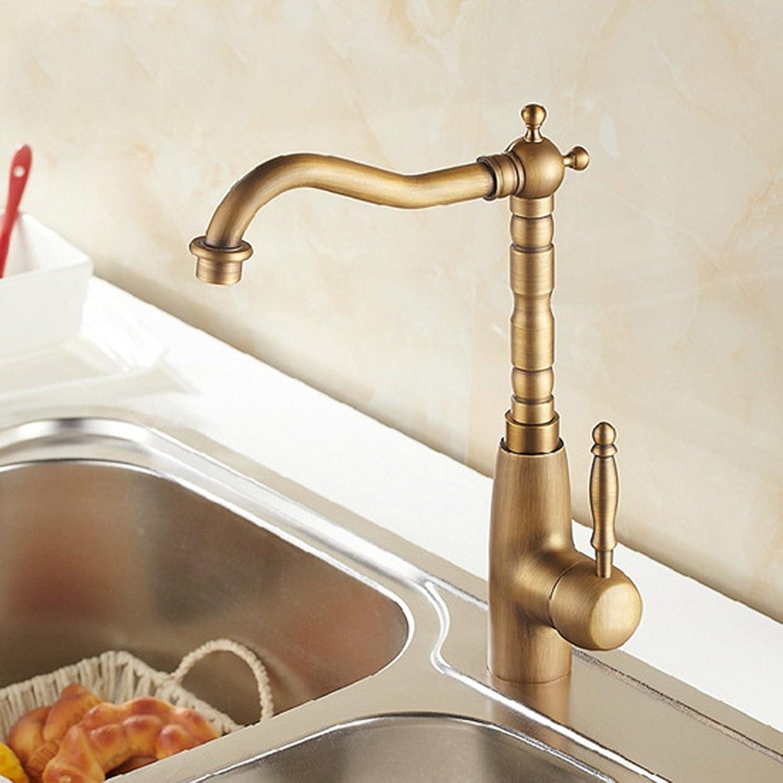 Gyps Faucet Waschtisch-Einhebelmischer Waschtischarmatur BadarmaturAntike Küche Wasserhahn Warmes und Kaltes Becken Retro Gedreht Werden Kann,Mischbatterie Waschbecken
