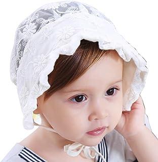 ARAUS Sombrero de Encaje Niñas Bebé Estampado Fiesta Boda Ceremonia Gorro Fino Verano