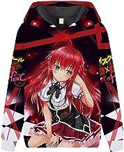 High School DXD Sudaderas Unisex de Manga Larga 3D Pullover Hombres Mujeres Camiseta Puente Digital Impreso Sudadera Populares High School DXD Pullover