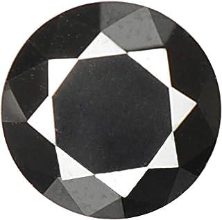 gemhub Black Moissanite Diamond 1.60 Carat Round Brilliant Cut Moissanite Loose Gemstone