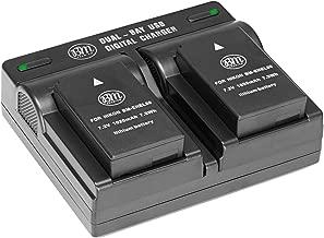 BM Premium Pack of 2 ENEL20, EN-EL20a Batteries and USB Dual Battery Charger for Nikon Coolpix P1000, DL24-500, Coolpix A, 1 AW1, 1 J1, 1 J2, 1 J3, 1 S1, 1 V3 Digital Camera