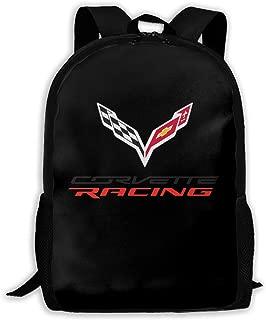 Backpack, Travel Hiking Corvette Apparel Racing Logo Backpacks Waterproof Big Student College High School Shoulder Bag Outdoor Backpacks For Men Women Adults