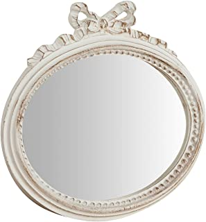 Biscottini Mirror Wall Mirror Shabby Style in Wood with Antique White Finish Measures W28xDP3xH27 cm Made in Italy