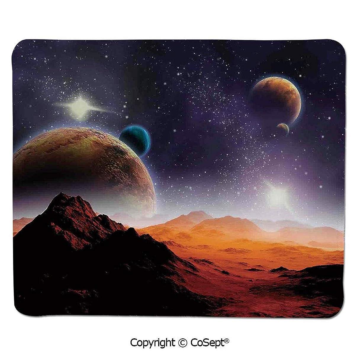 Ergonomic Mouse pad,Solar Sky Nebula Orbit Comet Horizon System,for Laptop,Computer & PC (11.81