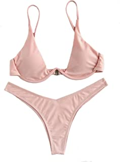 ad5338bd98 Amazon.com: Pinks - Bikinis / Swimsuits & Cover Ups: Clothing, Shoes ...