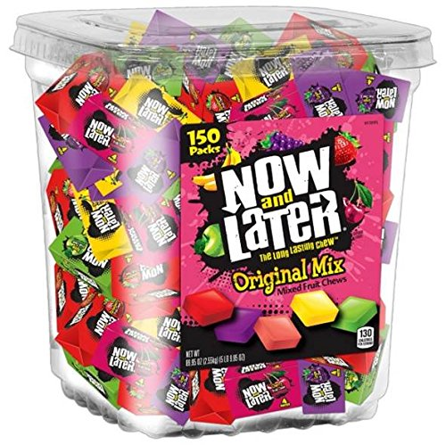 Now amp Later Original Taffy Chews Candy Assorted 150Count Chews 90 Oz Jar