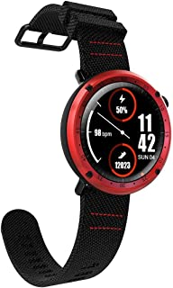 Songlin@yuan Multifunction Sports Fitness Tracker Waterproof 1.3 Inch TFT GPS Bluetooth Smart Watch with Heart Rate Monitor & Compass & Blood Pressure Fashion (Color : Red)