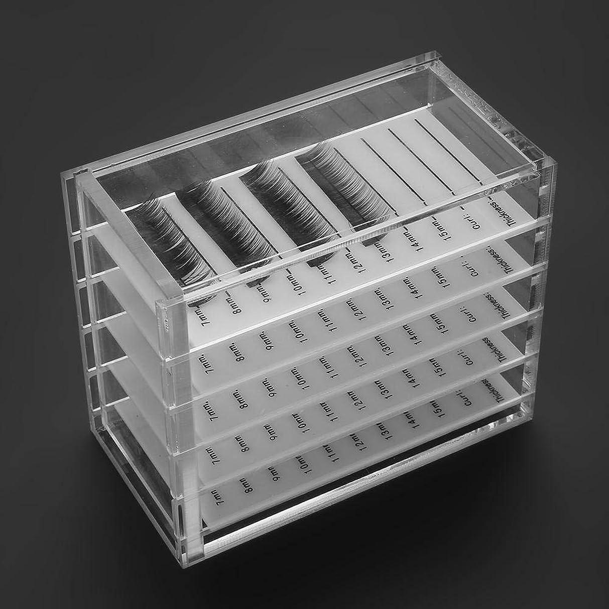 まつげ収納 5層 アクリルケース コスメボックス ジュエリー まつげパレット 小物収納ボックス透明 卓上化粧ボックス アクリル収納