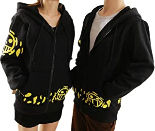 Anime One Piece Trafalgar Law Coat Hoodie Jacket Cosplay Costume