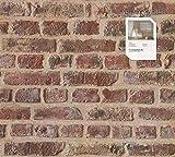 Tapete 302191 Kollektion Authentic Walls inklusive E-Book, Steinoptik, Steinwand, Steintapete, Ziegel, Rot, A.S. Création Papiertapete