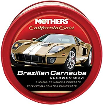 MOTHERS 05500 Brazilian Carnauba Cleaner Wax Paste, California Gold: image