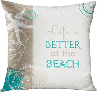 beach pillows for bed