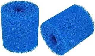 Lifreer 2 esponjas de filtro de piscina, filtro de esponja para Intex tipo A, reutilizable lavable cartucho de espuma de repuesto para piscina hidromasaje spa