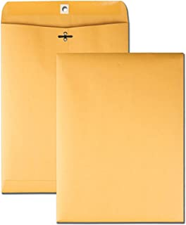 Brown Kraft Catalog Clasp Envelopes with Clasp Closure & Gummed Seal, 28lb Heavyweight Paper Envelopes, Great for Filing, Storing Or Mailing Documents, 25 Envelopes (10 x 13 inches)