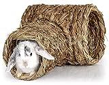 Natur Gras Heu Stroh Nager Meerschweinchen Kaninchen Hamster Tunnel Haus