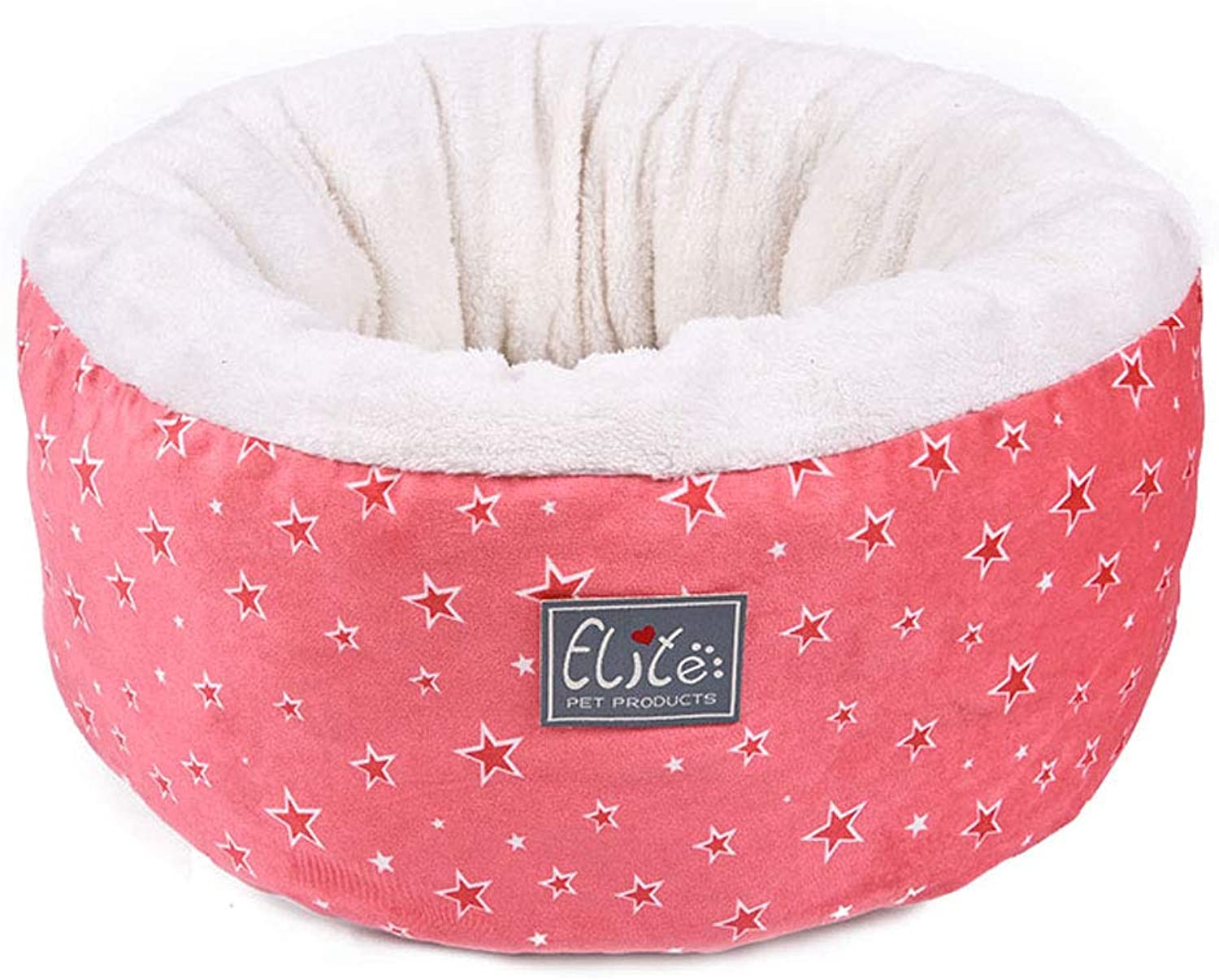 YangMi letto domestico Pet Nest Fivepoint Star Cat Nest Four Seasons Universal Pet Supplies (colore: PINK, Dimensione: 48x48x25cm)