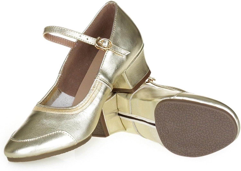 WXMDDN Female Dance shoes gold shoes Four Seasons shoes Adult Soft Soles Dance shoes