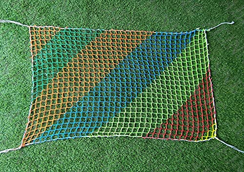 AINUO Red de futbol para rebotar de hockey, rebote, de repuesto, de portería, para la parte posterior, de balón, para valla de baloncesto, red de bateo (color: 4 cm a 4 mm, tamaño: 1,5 x 8 m)