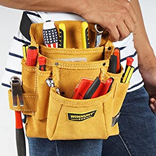 Cowhide Electricians Tool Pouch Bag with Belt …