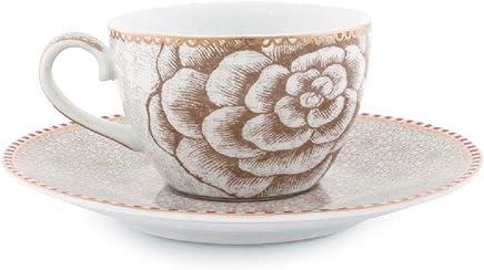 Preisvergleich für Pip Studio Espresso Cup & Saucer Spring to Life | off white | 80 ml