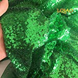 LQIAO Pailletten-Stoff, Meterware, für Kostüme,