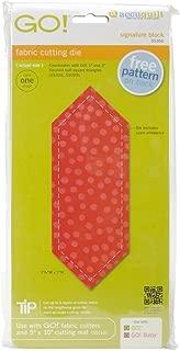 AccuQuilt GO! Fabric Cutting Dies-Signature Block 6-1/4