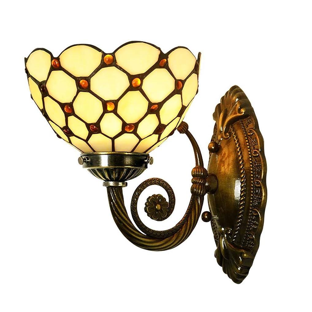 人気のペアヘルシーティファニースタイルブラケットライト、ビーズデザインピュア銅ウォールランプ、ユーロ浴室の壁ライトカフェホテルクラブアートコリドーライ