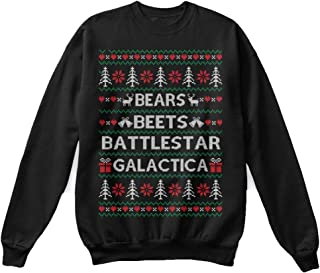 Bears Beets Battlestar Dwight Schrute The Office tv Show Ugly Christmas Sweater