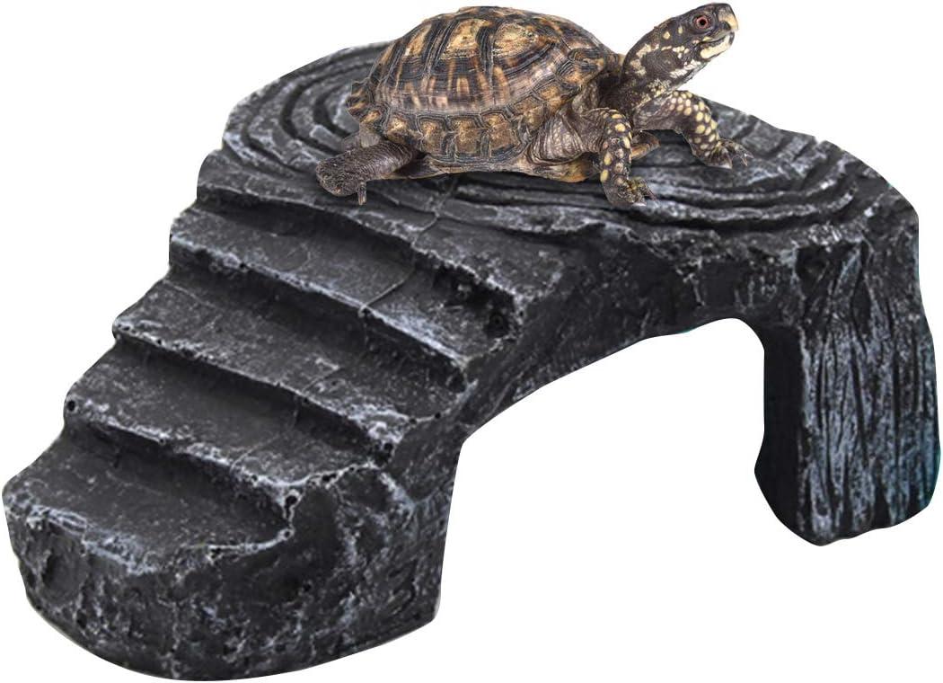 NCONCO - Piattaforma di tartaruga per rettili, nascondendo grotta, acquario