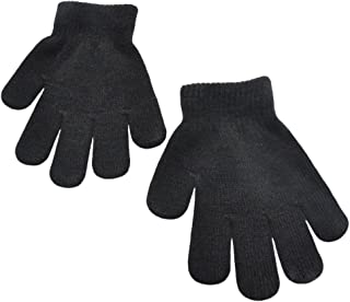 BaiX Little Kids Solid Winter Knitted Full Finger Gloves, 3-8 Years Old