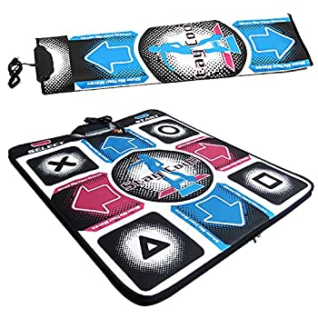 Non-Slip Dance Pad Dancing Mat,PC Dance Revolution  DDR  Game Pad with USB Plug,High Sensitive Durable Dancer Blanket,for Laptop AV Video Game