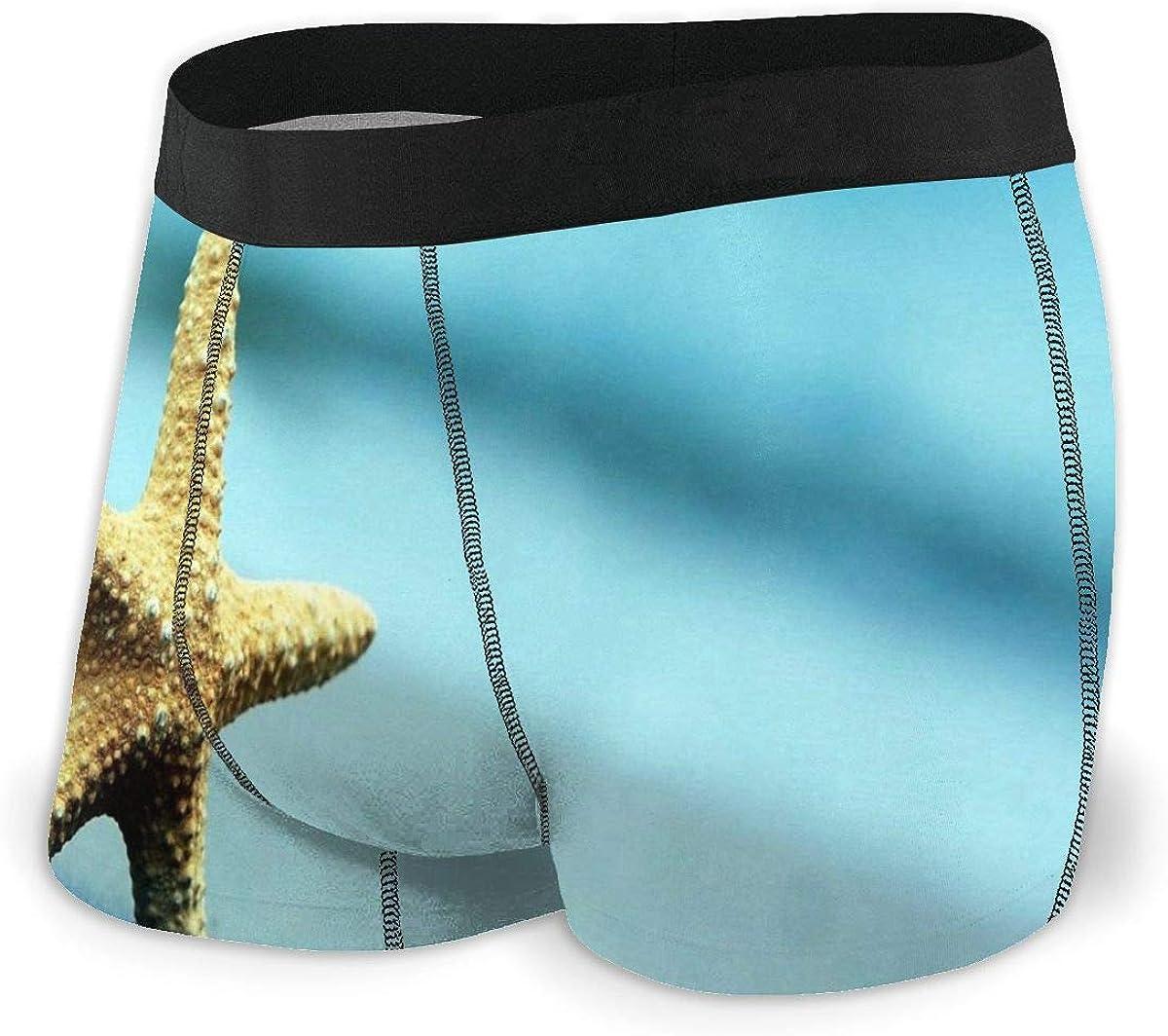 Randolph Wordsworth Mens Boxer Briefs Starfish Sand Beach Summer Breathable Underwear