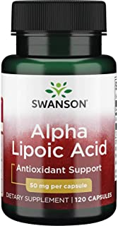 Swanson Alpha Lipoic Acid 50 Milligrams 120 Capsules