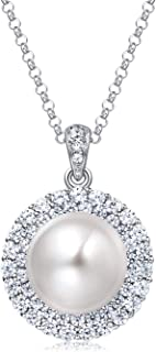 Best pearl halo necklace Reviews
