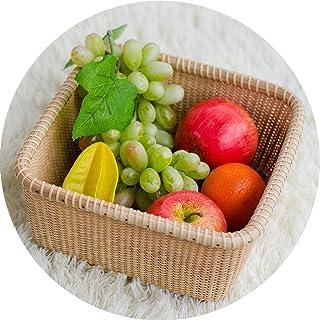 Armoires vestiaires Boîte De Rangement Accueil Cuisine Fruits Panier De Rangement Accueil Snack Tri Boîte Rustique Woven H...