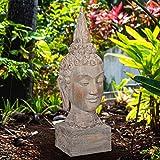Buddhakopf asiatische Skulptur Feng Shui H 36 cm zur Gartendekoration