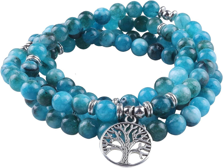 GVUSMIL 8mm 108 Mala Beads Wrap Charm Yoga for Fashionable Necklace Bracelet online shop