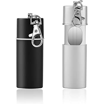 cylindrique Alliage de Zinc avec Porte-cl/és cendrier Anti-odeurs pour Les d/éplacements Cendrier de cendrier de Voyage /à emporter Schimer Mini cendrier//cendrier de Poche//cendrier de Voyage