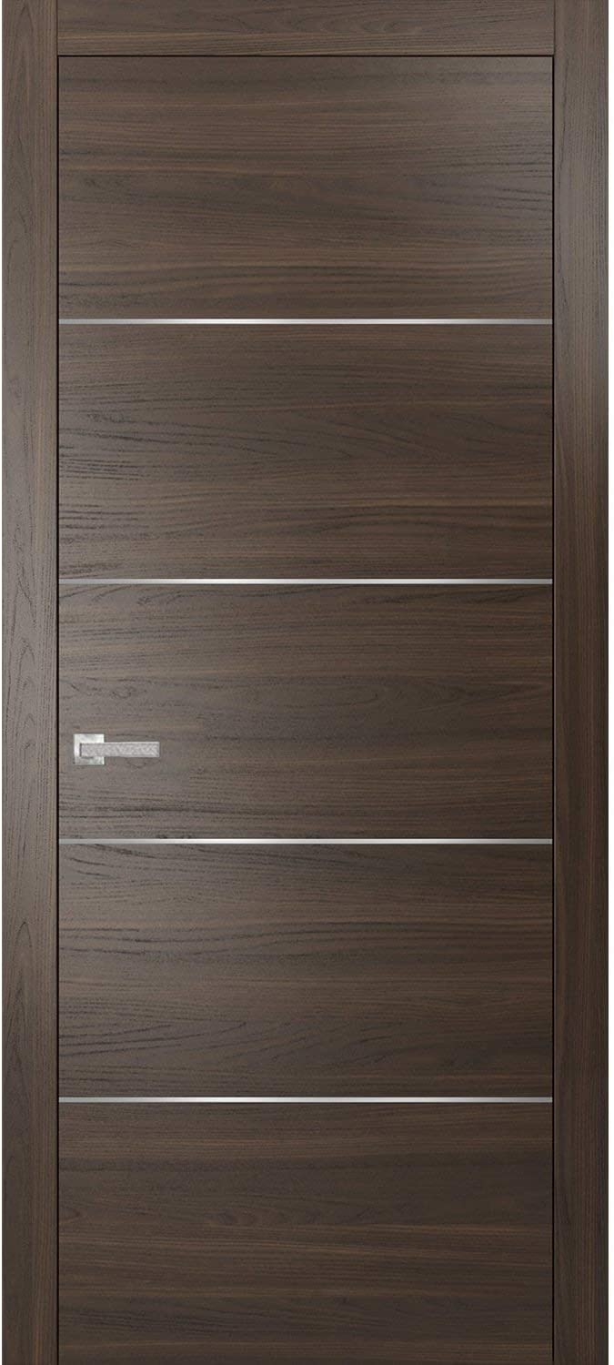 Brown Modern Outlet SALE Door 42 x 80 Inserts 0020 Metal with Choco Bargain Planum