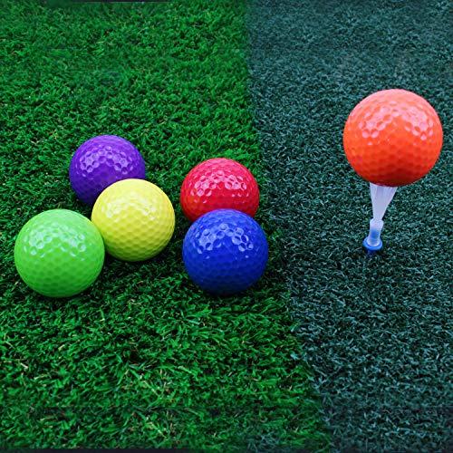 Crestgolf Pelota de Golf Colores Mezclados, Campo de prácticas, Pelotas de Golf, Pelota de práctica de Golf, 2 Estilos para su elección(Six Color)