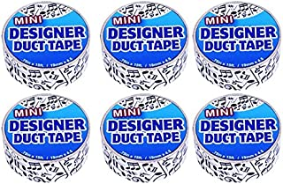 Just for Laughs Designer Mini Duct Tape 6 Pack (Music Notes)