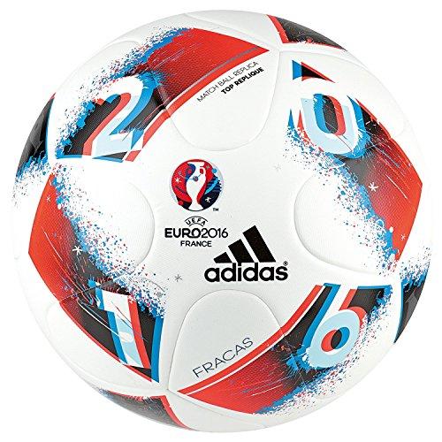 adidas Euro16 Top R Balón de fútbol, Hombre, Blanco (Blanco/Azubri ...