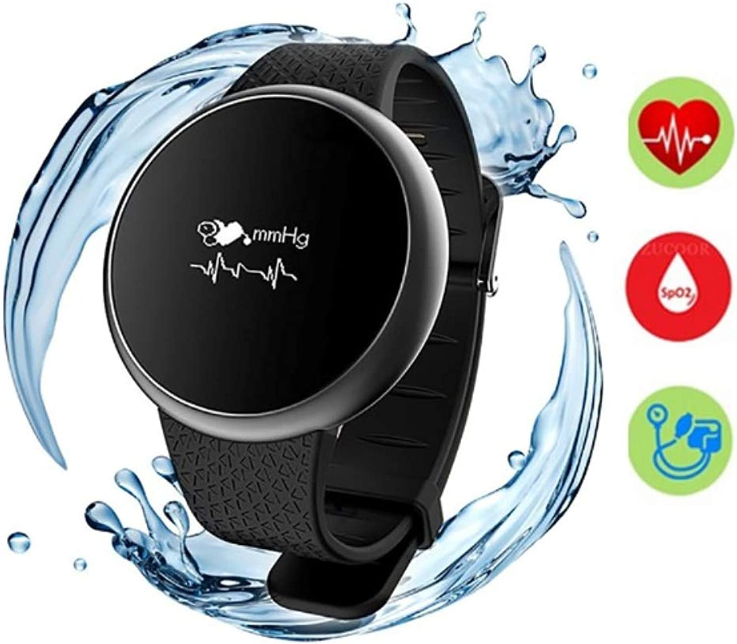 TLgf Blautooth Smart Watch, Tracker-Herzfrequenz und Blautdruck 4 in 1 Monitoringpedometer, IP67 Wasserdichte Sportfitness, Kinderfrauengeruhren