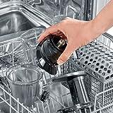 SEVERIN ES 3571 Slow Juicer (150 W, Inkl. Frozen-Fruits-Aufsatz) metallic grau/schwarz/edelstahl