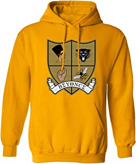 Crest Patch Pullover Homecoming Hoodie (Yellow)