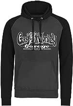 Gas Monkey Garage Hoodie Classic White Logo Official Mens Dark Grey Pullover