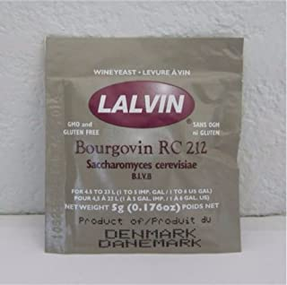 Bourgovin RC 212 Saccharomyces cerevisiae 3 pack (5 g. Pouchs)