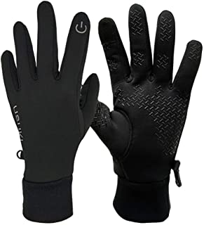 Touch Screen Gloves Unisex Winter Lightweight Gloves Outdoor Windproof Warm Gloves Anti-Slip Full Finger Cycling Gloves for Men and Women (XL)